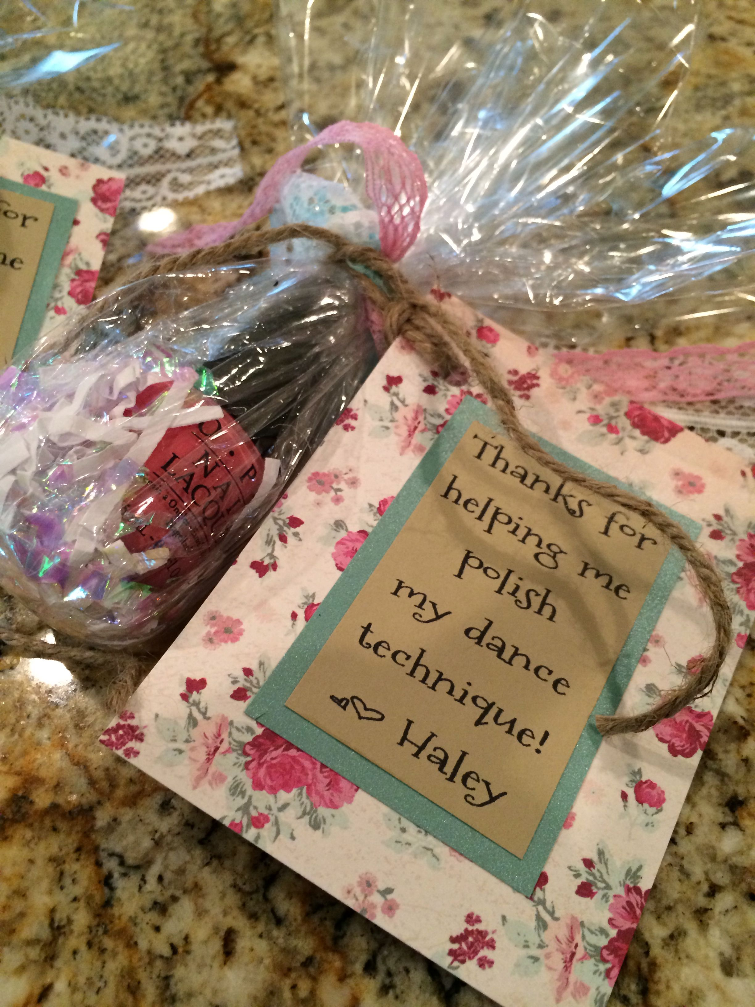 End of year gift for our favorite dance teachers! | My creations ...