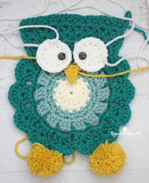 Crochet Owl Super Scarf - Free Pattern | Stricken und Häkeln