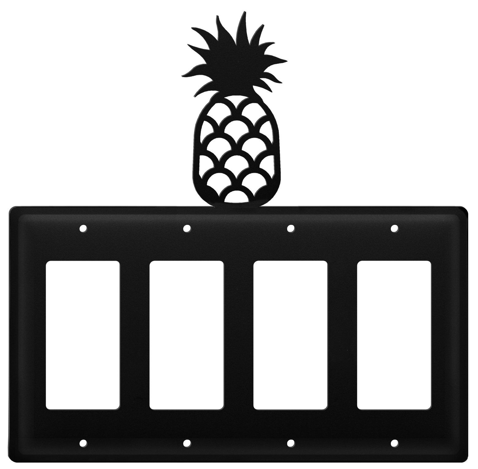 Wrought Iron Pineapple Quad Modern Switch Cover Custom Made Iron