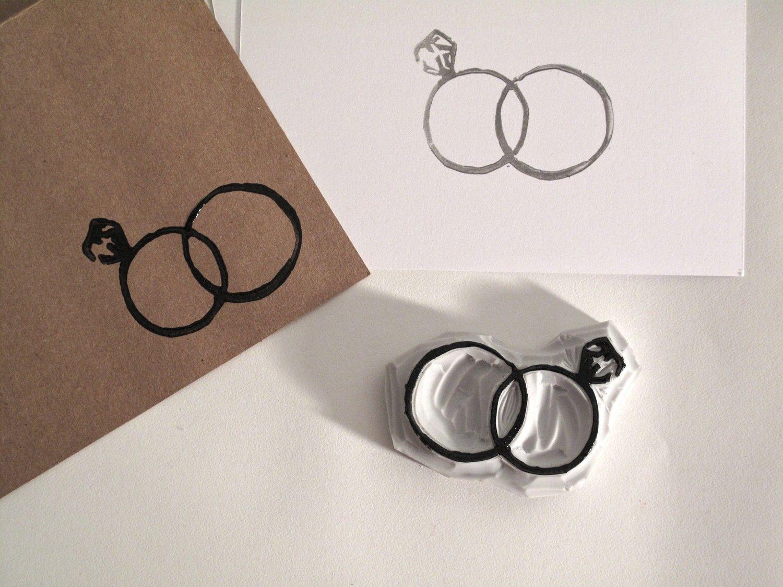Wedding ring rubber stamp for envelopes Wedding Love Pinterest