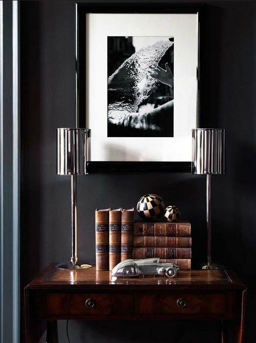 Masculine Decor Roundup See More Ideas About Silver Lamp
