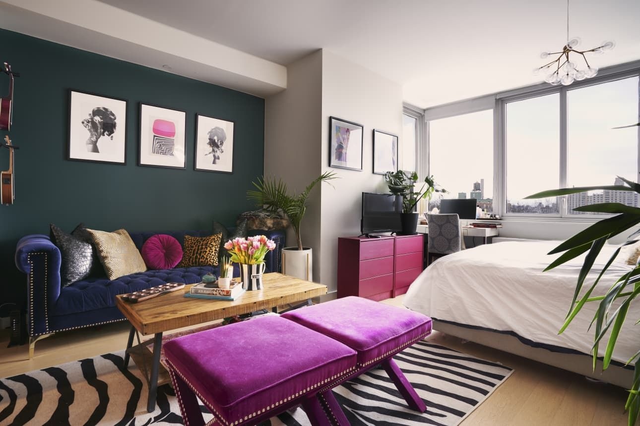 A 400SquareFoot Brooklyn Studio Fits a Ton of Color in a