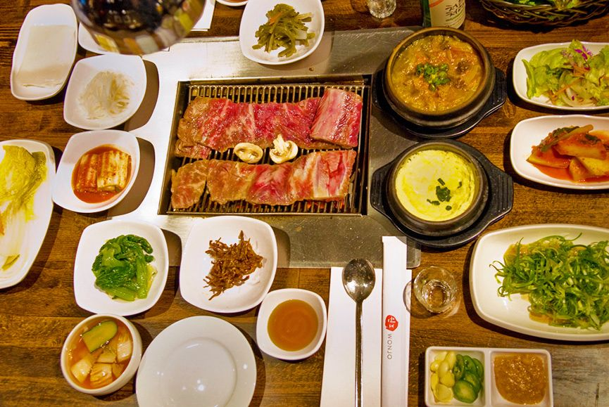 Korean BBQ recommended by Andrew zimmern - NYC