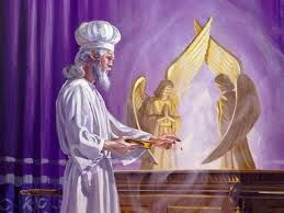 Moses in the Holy of Holies.