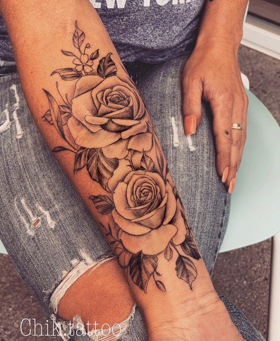 100+ The Most Beautiful Flower Tattoo Designs #flowertattoos - flower tattoos