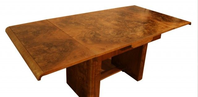 WARING GILLOW WALNUT ART DECO DINING TABLE C 1932