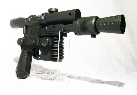 Star Wars Disney Han Solo costume blaster weapon gun with sound comic Full Size