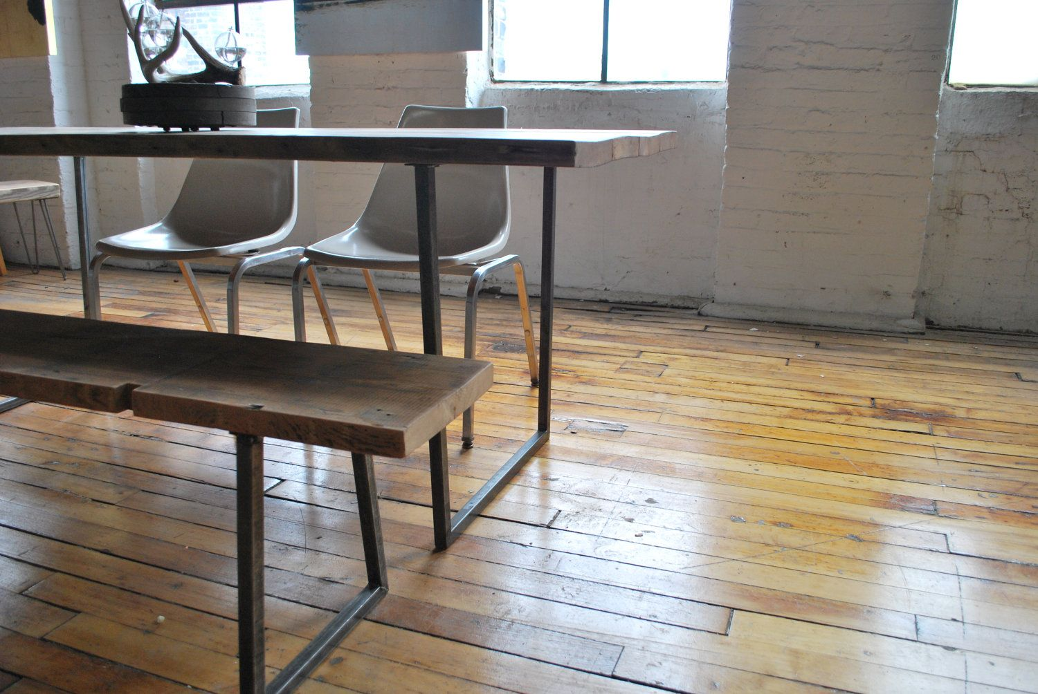 Reclaimed Wood Industrial Modern Styled Brooklyn Dining Table
