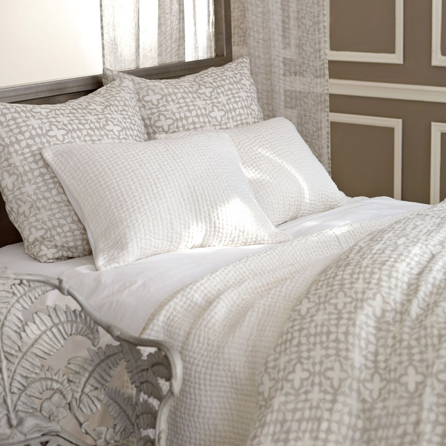 Pine Cone Hill Seychelles Dove White Quilt LaylaGrayce