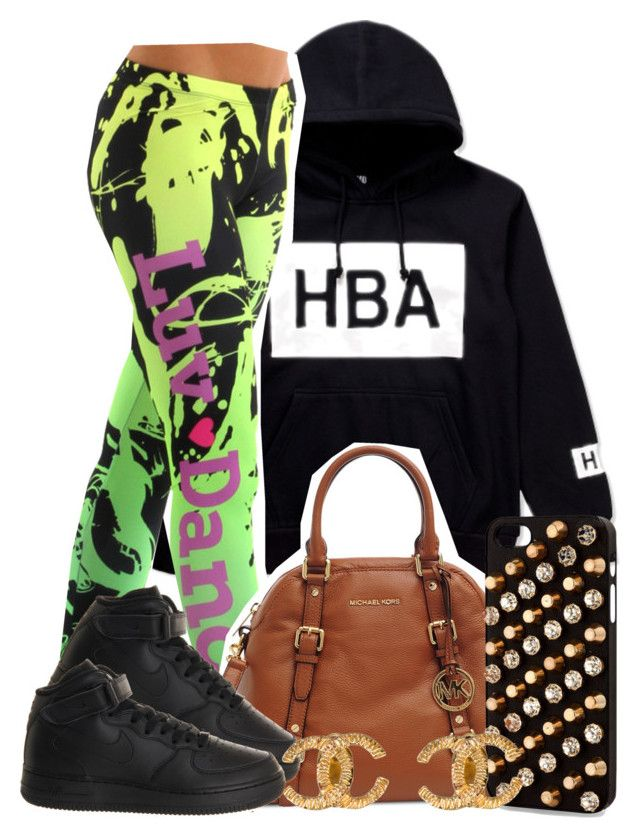 """HBA Dance"" by trillest-queen ❤ liked on Polyvore featuring Hood by Air, Michael Kors, NIKE and Chanel"