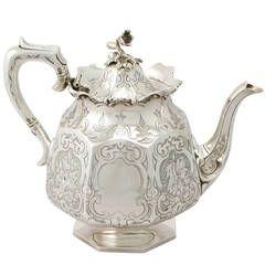 Antique Victorian Scottish Sterling Silver Teapot