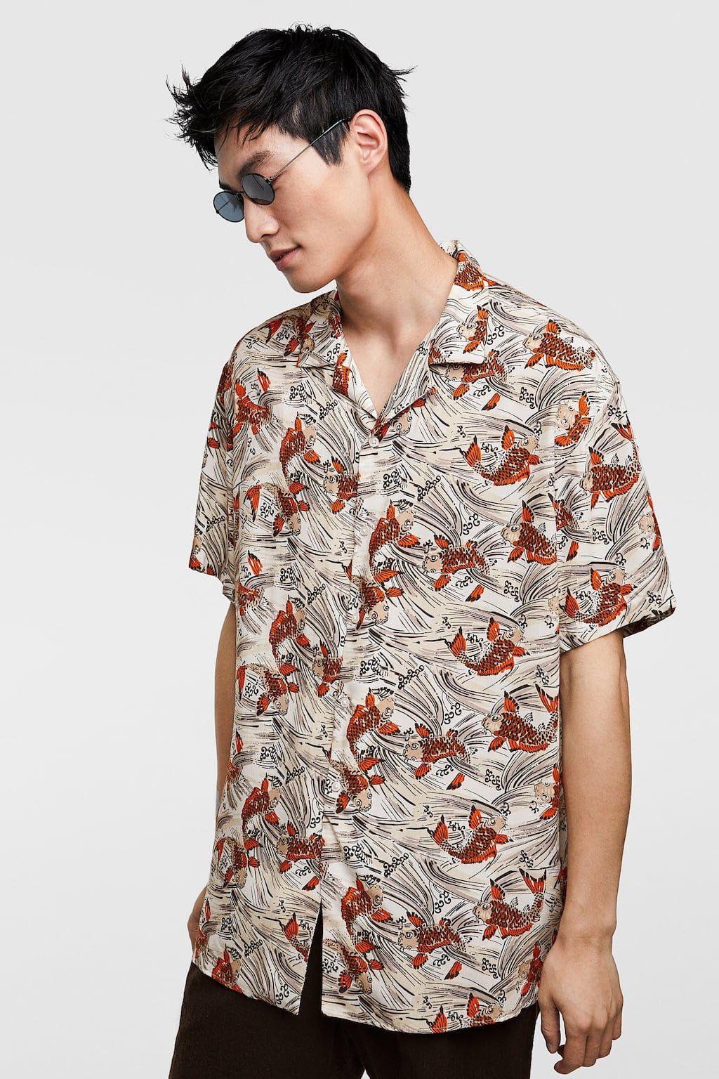 17ad4b698d Image 2 of FLOWY FISH SHIRT from Zara | Printed Shirts | Fishing ...