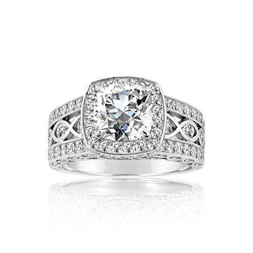 925 Sterling Silver Engagement Rings For Women
