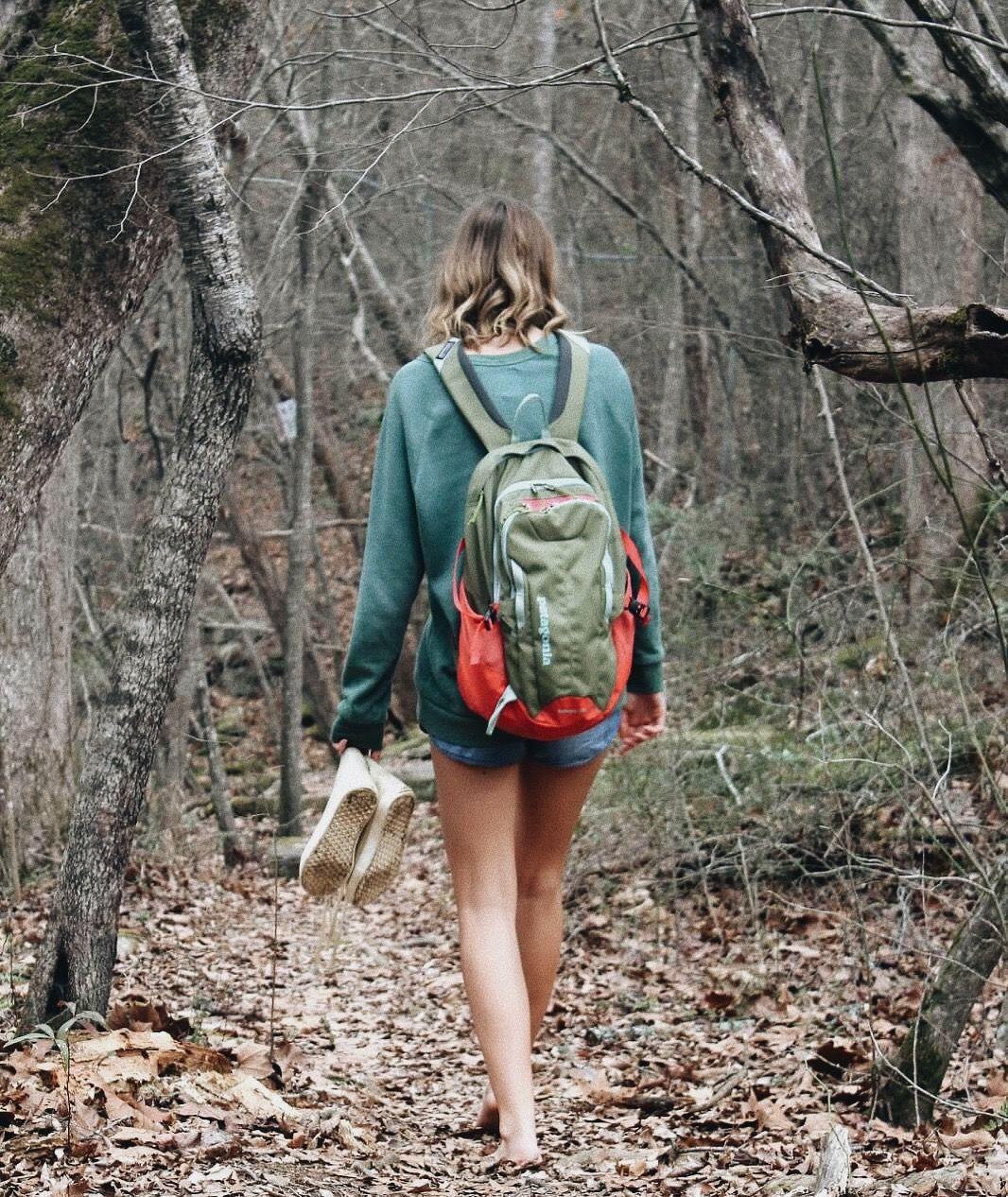 Barefoot Hiking Girls
