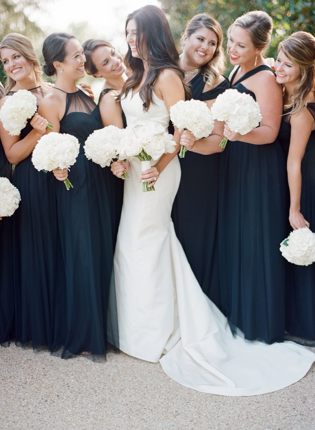 Why Bridesmaids In Black Is Super Chic Amsale Bridesmaid Black Bridesmaid Dresses Wedding Dresses [ 1500 x 1100 Pixel ]