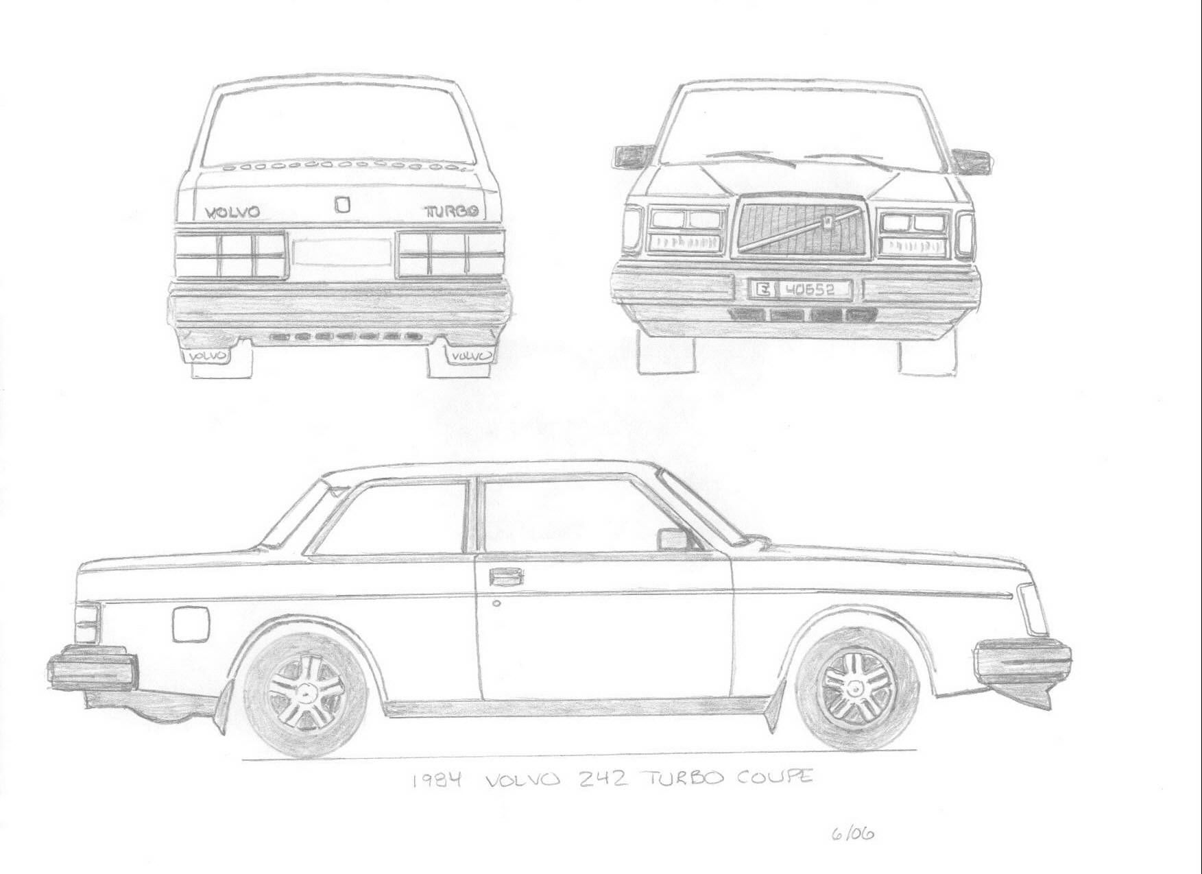volvo 240 blueprint - Google Search   Volvos are my jam ...