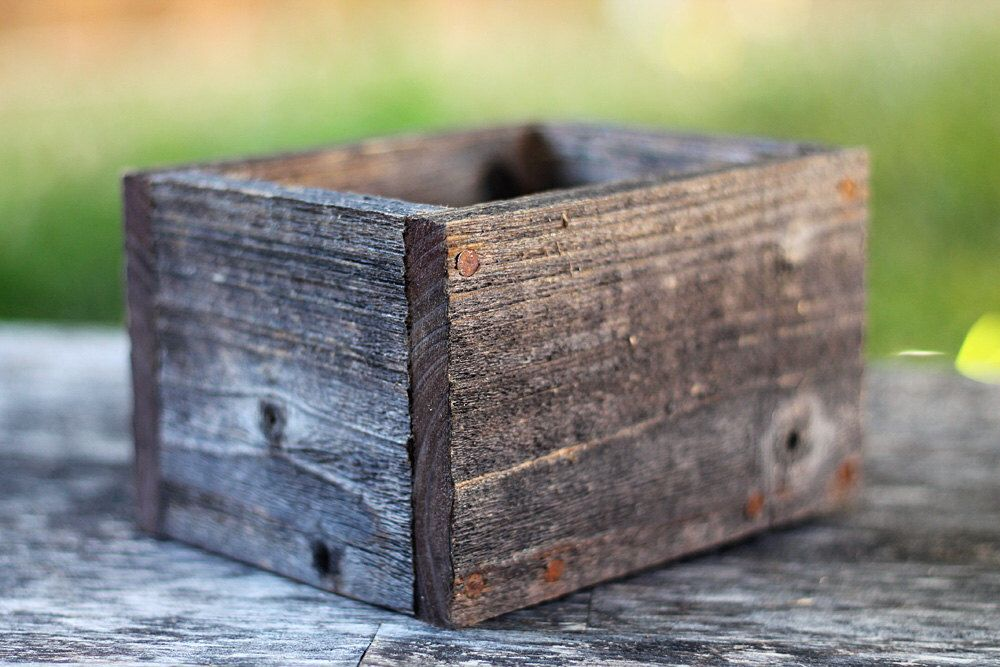 "6"" Wood Planter Box (3.25"" 3.75""H),Wooden,Succulent,Cedar"