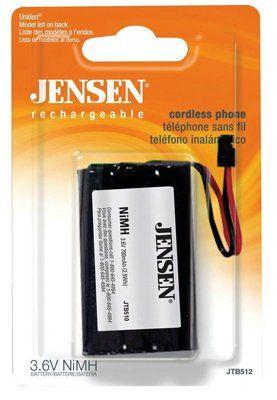 Audiovox JTB512 3.6V 800 Mah Nihm Cordless Phone Battery - Quantity 6