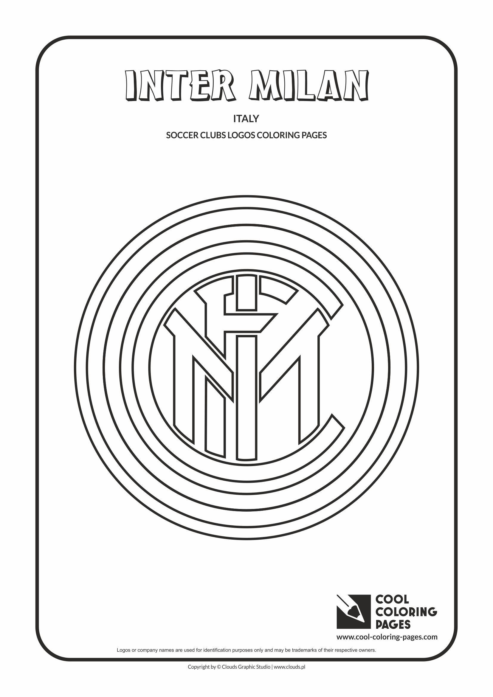 Cool Coloring Pages - Soccer Clubs Logos / Inter Milan logo ...
