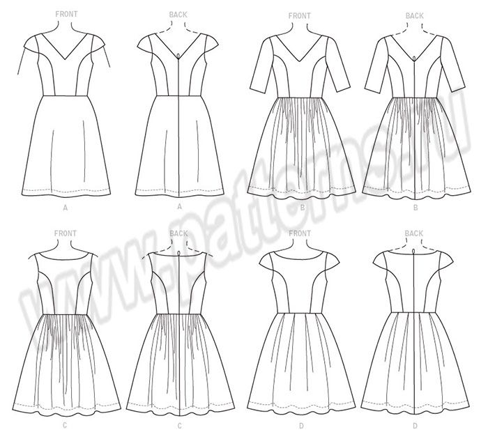 Выкройка McCall\\'s — Платье - M7536 | Sewing / сшить | Pinterest