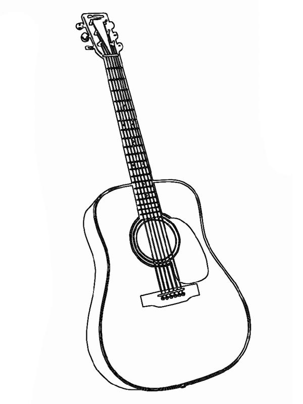 Bojanke Za Decu Muzicki Instrumenti Music Instruments Coloring Books Guitar