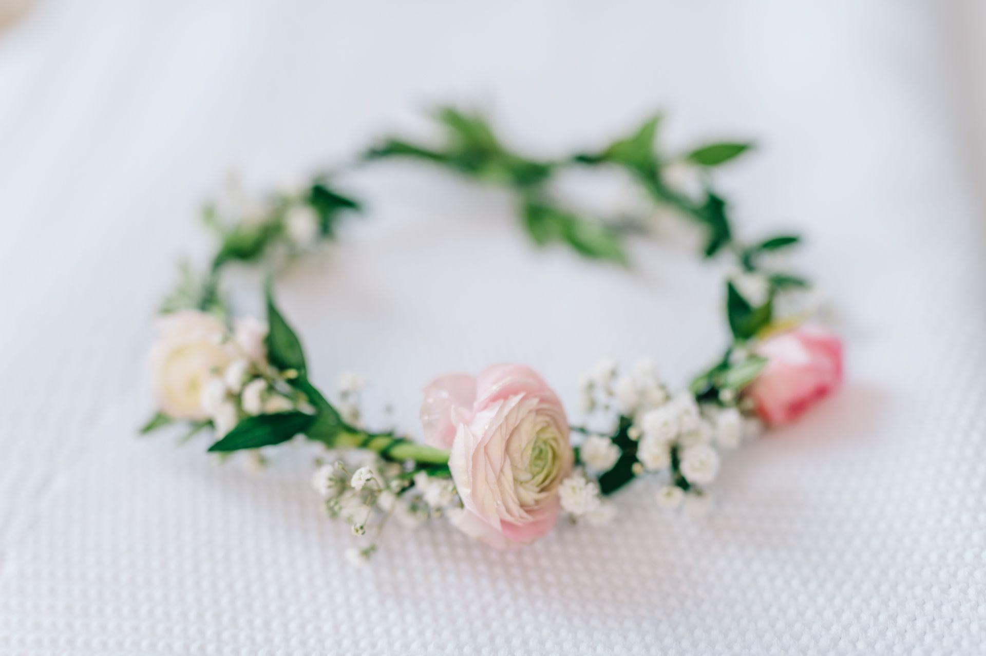 DIYBlumenkranz  Weeding flower  Blumenkranz Armband