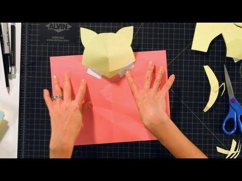 How To Make A Kitten Head Pop Up Card Pop Up Cards Youtube Pop