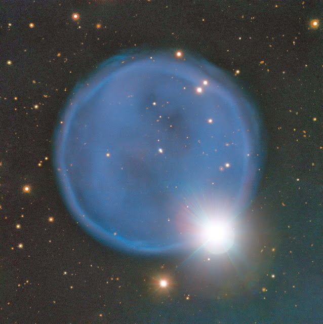 Bubble Shaped Planetary Nebula Abell 33 In Hydra Constellation Imaged