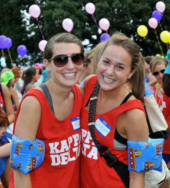 Lifeguard/water themed Kappa Delta bid day!