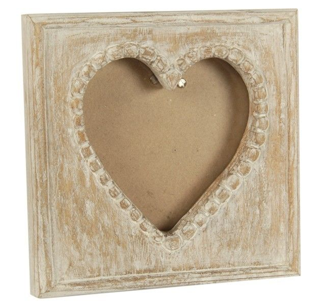 Small Wooden Heart Photo Picture Frame Natural Limed Hearts I See