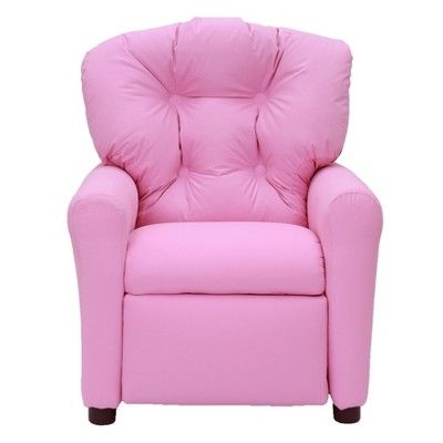 Amazing Kids Traditional Reclining Chair Racy Pink Microfiber The Andrewgaddart Wooden Chair Designs For Living Room Andrewgaddartcom