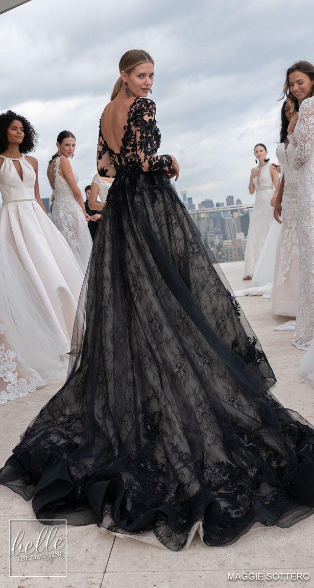 NYBFW Maggie Sottero Designs Wedding Dresses 2019 Black