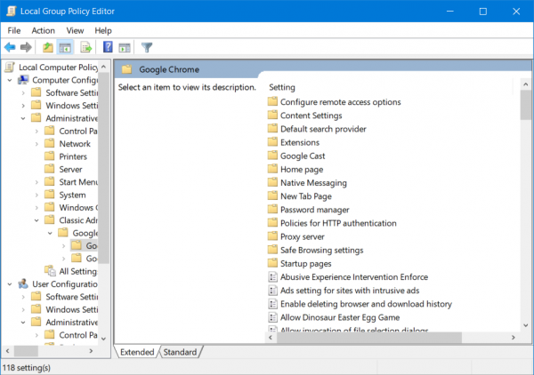 Configure Google Chrome Using Group Policy Group Policy Google Chrome Policies