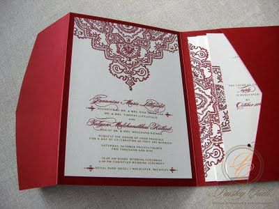 Jeannine And Falu0027s Hindu/Christian Wedding Invitation U2013 Paisley Quill
