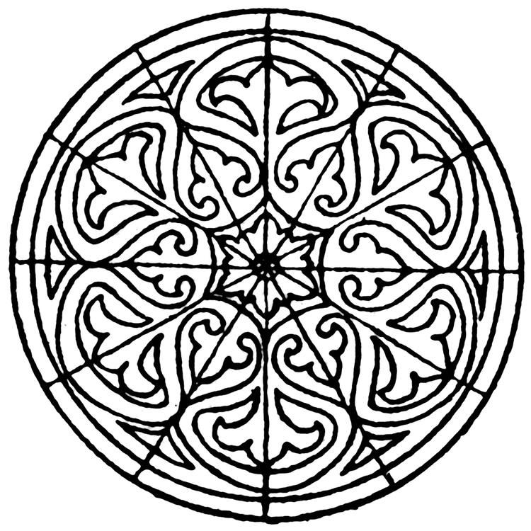 Traditional Islamic Mosaic coloring page | Free Printable Coloring ... | 750x750
