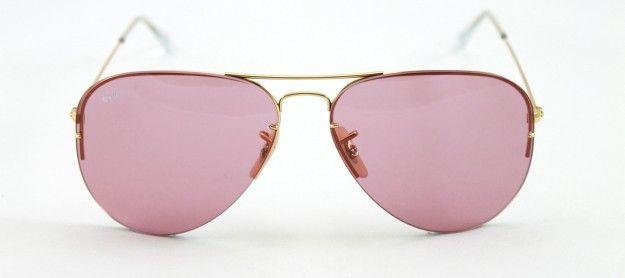 c8a0fba9a253e Gafas de sol Ray Ban estilo aviador en dorado y con cristales en rosa  Gafas