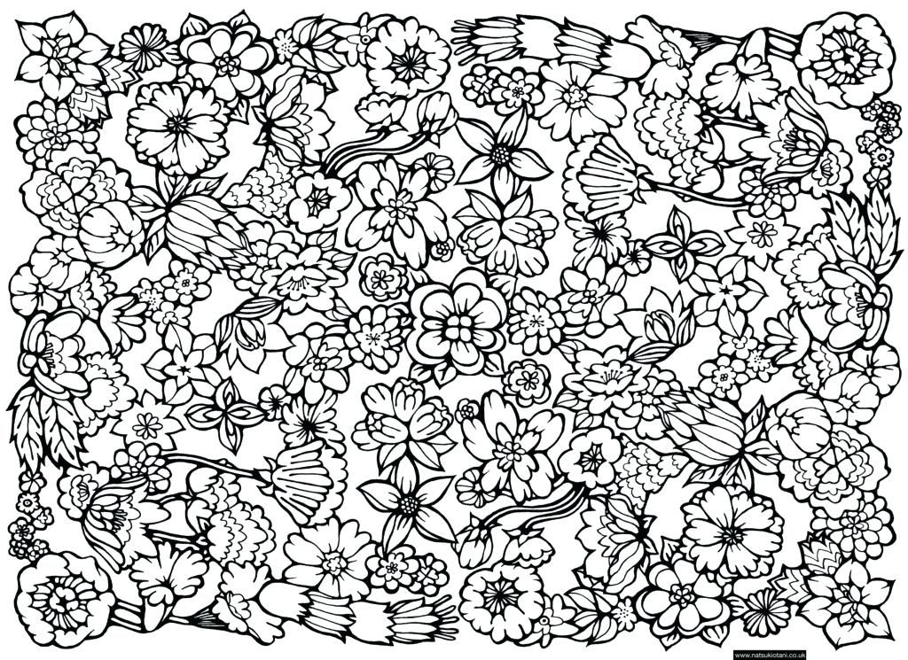 Hard Flower Coloring Pages Awesome Hard Flower Coloring Pages For Teenage Printable Flower Coloring Pages Printable Adult Coloring Pages Adult Coloring Flowers