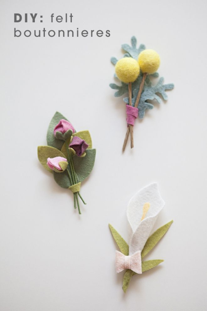 This Wedding Bouquet Is Made Entirely Of Felt Flowers! | How-To and ...