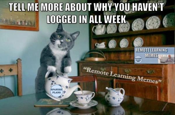 Distance Learning Memes Spanishplans Org Teaching Humor Teacher Memes Teacher Humor