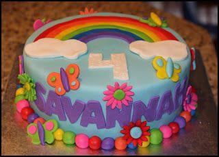 Wondrous Rainbow Birthday Cake Girls Brooklynn 6Th Birthday Cake Idea Funny Birthday Cards Online Barepcheapnameinfo