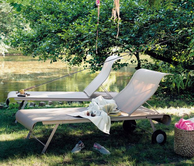 Dune Sunlounger Fabric Chaise Longue Otf Outdoor Furniture Sun Lounger Fermob Lounge Chair Outdoor