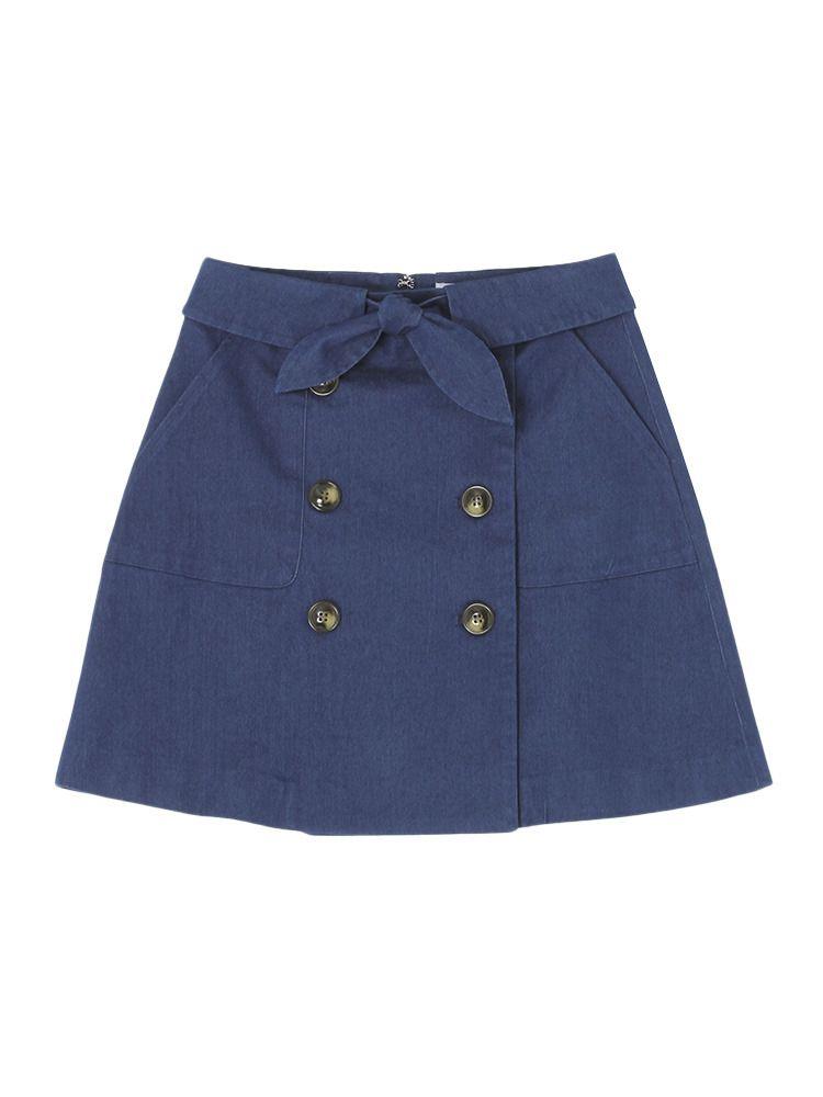 ダズリン|dazzlin公式ファッション通販|ランウェイチャンネル【sc】トレンチ風デニム台形スカートの詳細情報| RUNWAY channel(ランウェイチャンネル)(021610802501)
