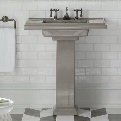 Kohler Tresham Pedestal Sink.Kohler Tresham Ceramic 30 Pedestal Bathroom Sink With