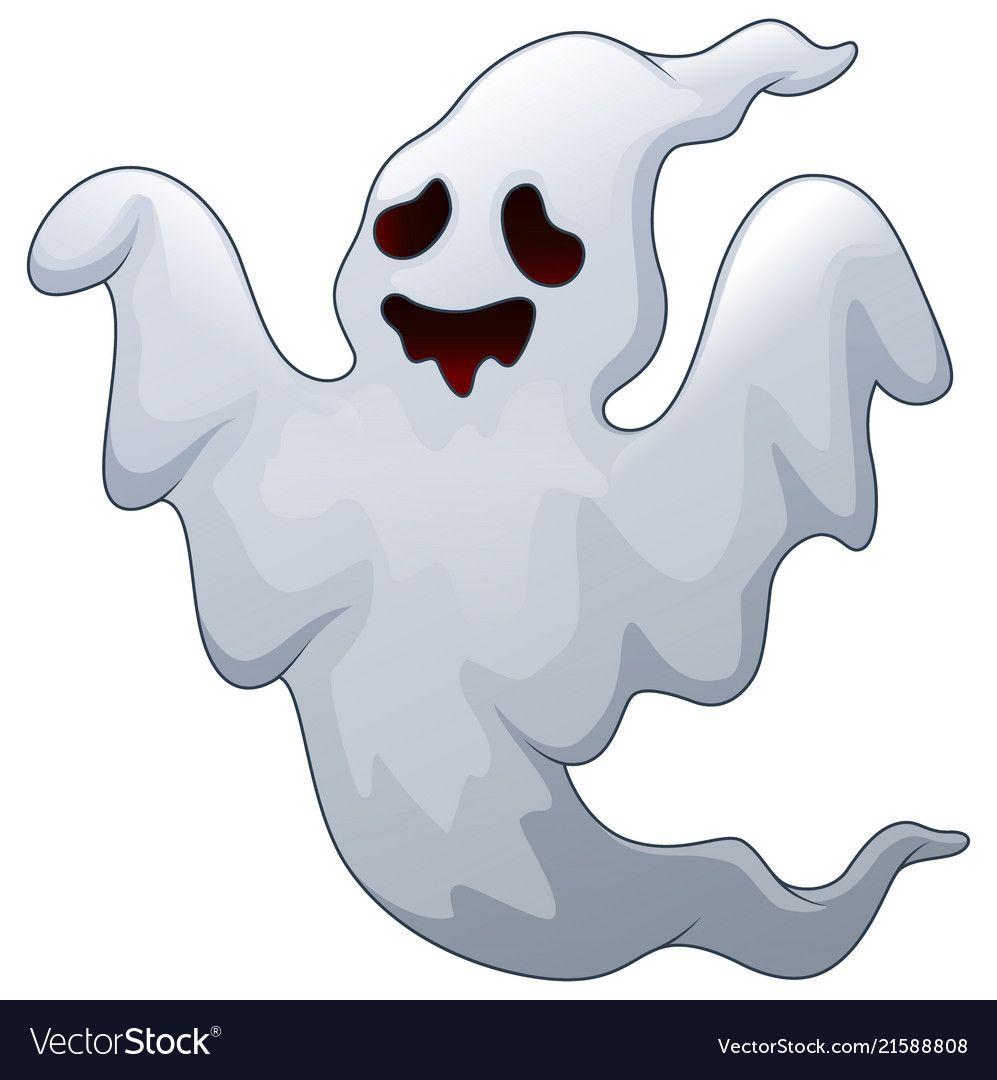 Spooky halloween ghost vector image on Halloween ghosts