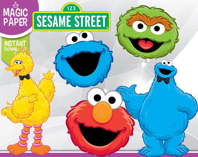 Sesame Street Clipart Digital 300 Dpi Png By Magicpapershop Sesame Street Scrapbooking Projects Clip Art
