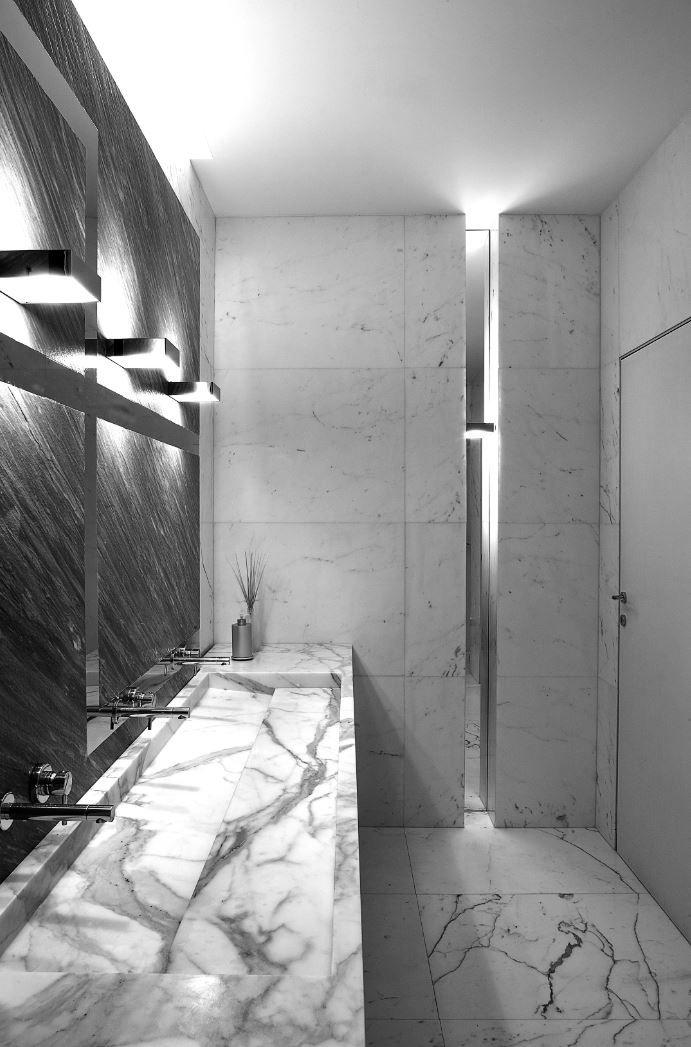 Lavabo rettangolare in marmo con piano orizzonte by - Andretta mobili ...