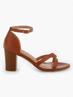 d2281c786a2ad8 Sandales unies talon carré LH BY LA HALLE | shoes | Sandale talon ...