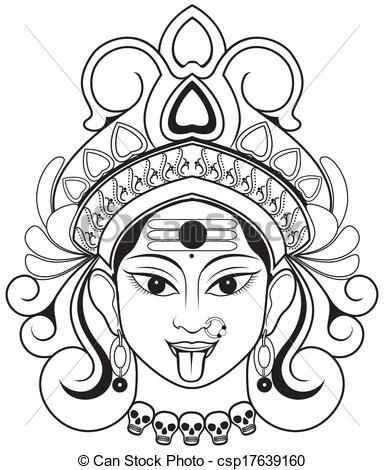 Indian Godddes Kali Maa Typography In 2019 Indian