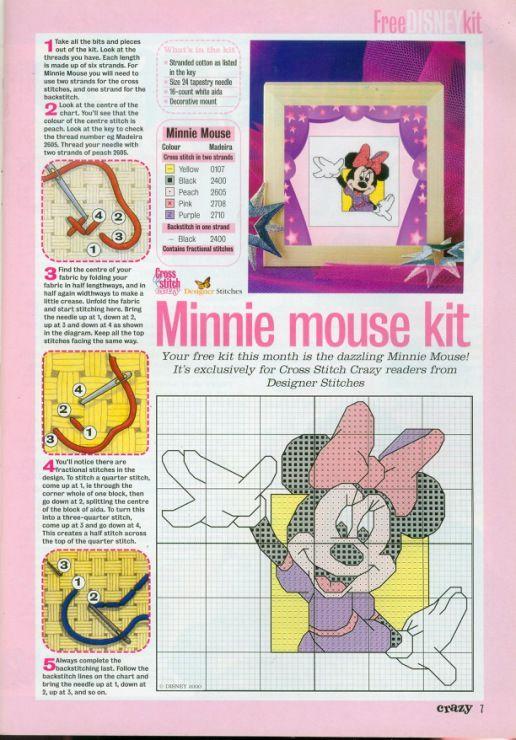 Minnie Mouse | Disney Mickey Mouse | Pinterest | Punto de cruz ...