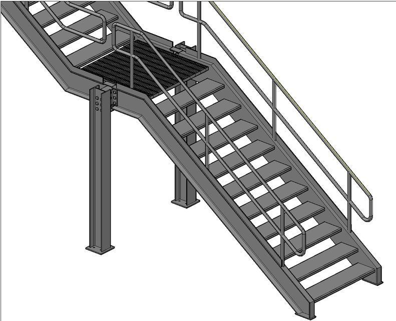 Escaleras metalicas detalle tecnico buscar con google for Escaleras metalicas para casa